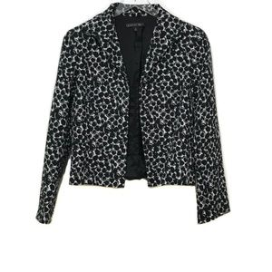 Lafayette 148 Black & White Open Front Jacket  6